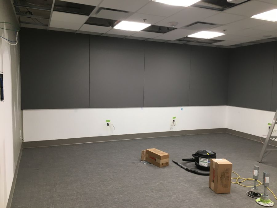 "Campbell River Hospital 2017 - 1"" Acousti-trac acoustic panels to exam room."